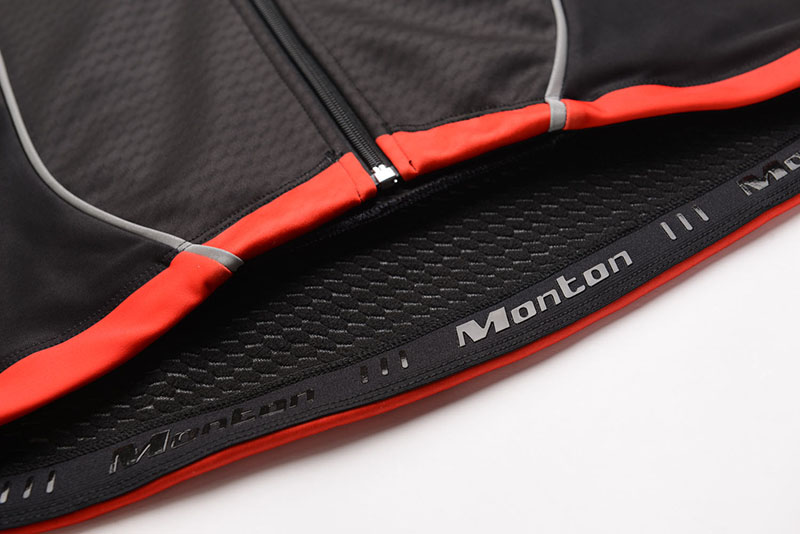 windproof cycling jacket details