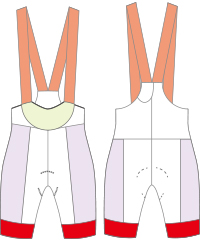 cycling bib shorts template