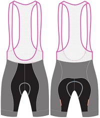 custom cycling bib shorts template