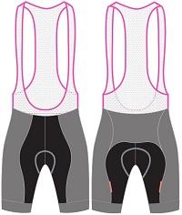 custom cycling bib shorts template