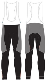 cycling bib tights template
