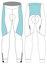 cycling tights template